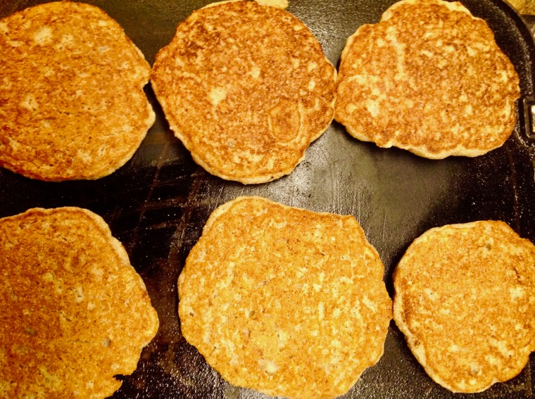 Vegan oil free pancakesand theyre fluffy sideways cottage the recipe is supposed to make six to eight pancakes but i got tenand i used a quarter cup measuring cup as recommended as you can see ccuart Images
